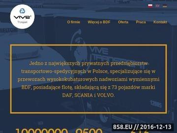Zrzut strony Transport miedzynarodowy oraz krajowy, VIVE Transport