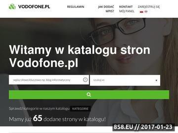 Zrzut strony Vodofone.pl - Oryginalne akcesoria gsm Zestawy słuchawkowe, Zestawy samochodowe