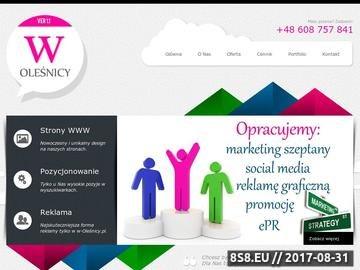 Zrzut strony Strony internetowe Oleśnica
