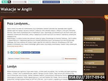 Zrzut strony Wakacyjny blog