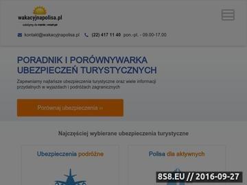 Zrzut strony Ubezpieczenie w podróży - wakacyjnapolisa.pl