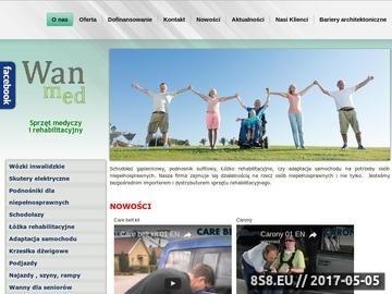 Zrzut strony Wanmed.pl - schodołaz gąsienicowy