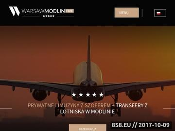 Zrzut strony Transport z lotniska Modlin