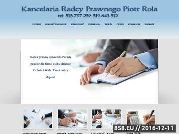 Zrzut strony Porady prawne dla Białołęka oferuje radca prawny i prawnik