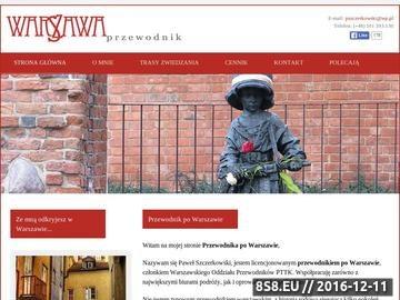 Zrzut strony Przewodnik po Warszawie