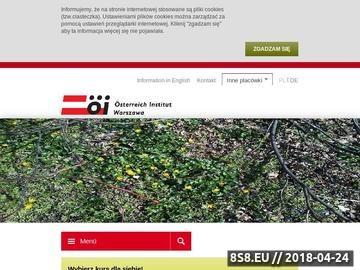 Zrzut strony Österreich Institut Polska sp. z o.o niemiecki dla dzieci Warszawa