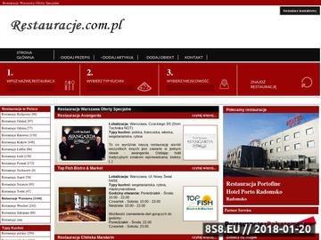 Zrzut strony Staropolska restauracja w Warszawie