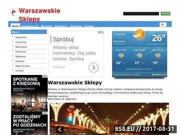 Zrzut strony Sklepy Warszawa