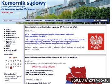 Zrzut strony Komornik Warszawa