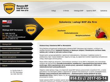 Zrzut strony Kursy BHP Warszawa
