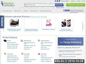 Zrzut strony Darmowe ogłoszenia w warszawalokalnie.pl