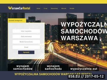 Zrzut strony Wynajem samochodów Warszawa
