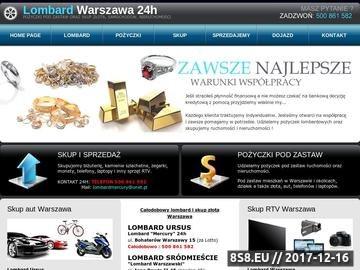 Zrzut strony Lombard Mercury całodobowy w Warszawie