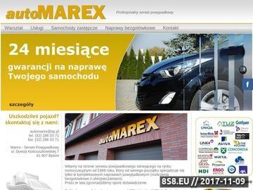 Zrzut strony Warsztat samochodowy, naprawy powypadkowe Marex