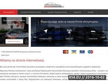 Zrzut strony Wynajem samochodów osobowych Warszawa