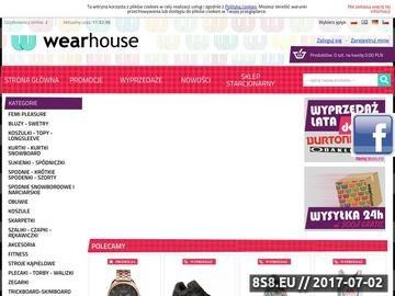Zrzut strony Sklep internetowy z odzieżą i obuwiem, zegarki i akcesoria - Wearhouse.pl