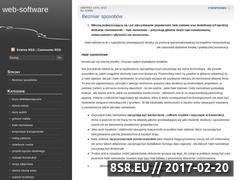 Miniaturka domeny www.web-software.pl