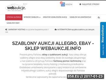 Zrzut strony Profesjonalny portal aukcji