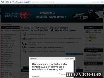 Zrzut strony Tłumiki i układy wydechowe w webautoservice.pl