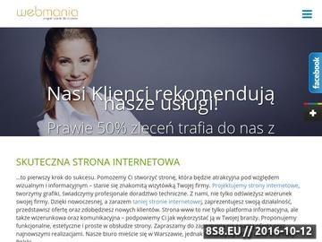 Zrzut strony Projektowanie stron WWW Warszawa