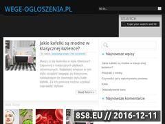 Miniaturka domeny www.wege-ogloszenia.pl