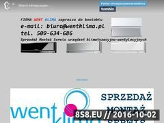 Miniaturka domeny www.went-klima.pl