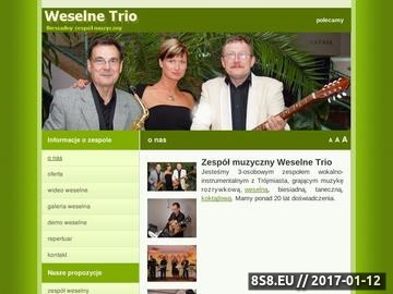 Zrzut strony Ekskluzywny zespół weselny, orkiestra weselna. Muzyka na żywo.Weselne Trio