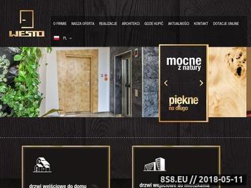 Zrzut strony Drzwi na wzór