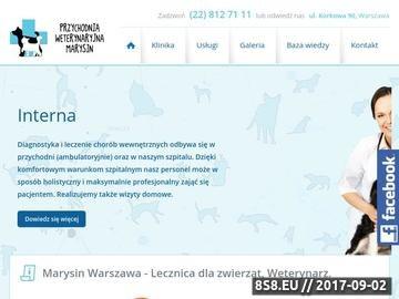 Zrzut strony Przychodnia Weterynaryjna WetMarysin - Warszawa