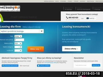 Zrzut strony Leasing - ocena zdolności leasingowej