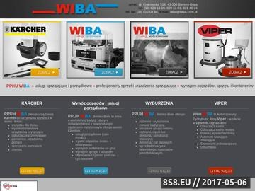 Zrzut strony WIBA usługi sprzątające
