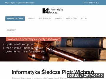 Zrzut strony Informatyka Śledcza - biegły sądowy z zakresu informatyki