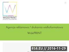 Miniaturka domeny www.wideprint.pl