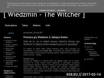 Zrzut strony Wiedźmin - Witcher