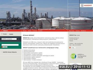 Zrzut strony Wiezat - izolacje przemysłowe