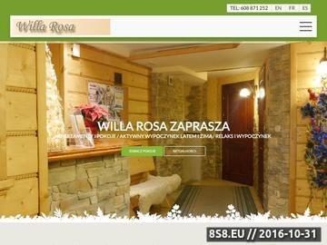 Zrzut strony Oferta wynajmu apartamentów i pokoi gościnnych w Szczyrku