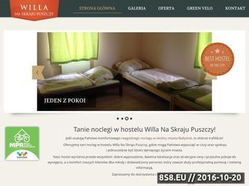 Zrzut strony Tani hostel Willa Białystok z darmowym internetem