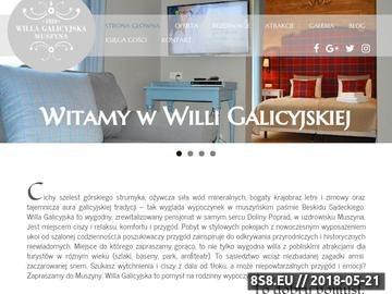 Zrzut strony Willa Galicyjska