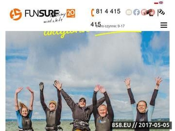 Zrzut strony FunSurf - nauka w kraju i egzotyczne wyjazdy