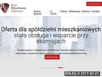 Zrzut strony Biuro Odzyskiwania Należności BON