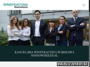 Zrzut strony Kancelaria adwokacka Warszawa - windykacja