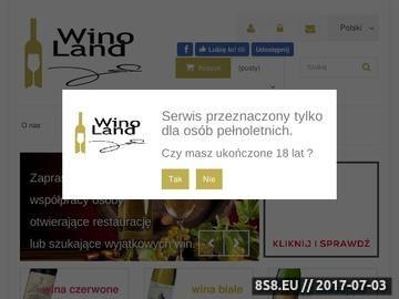 Zrzut strony Wina importowane różnych gatunków