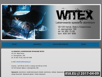 Zrzut strony WITEX lakiernia elektrostatyczna