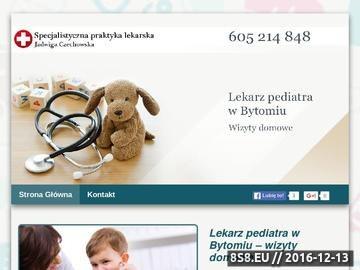 Zrzut strony Opieka medyczna Bytom - Jadwiga Czechowska