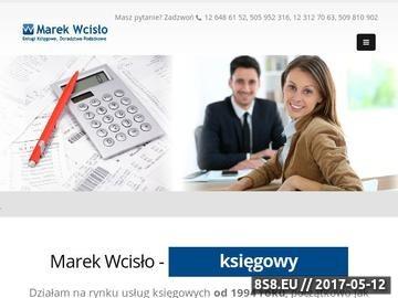 Zrzut strony Marek Wcisło Biuro Usług Księgowych i Doradztwa Podatkowego