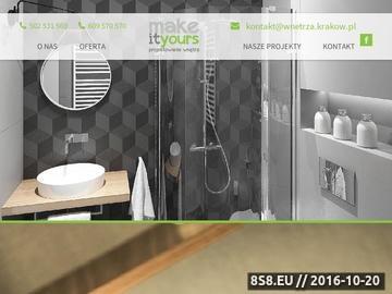 Zrzut strony Projektowanie wnętrz - Kraków
