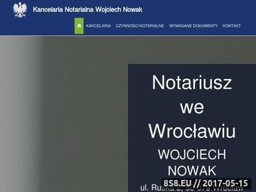 Zrzut strony Notariusz Wrocław - Wojchech Nowak