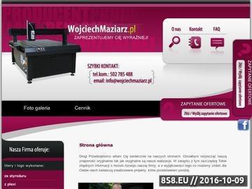 Zrzut strony Produkcja kasetonów, numerów na dom, szyldów, liter 3D