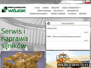 Zrzut strony Wójcik FHU części do siłowników hydraulicznych