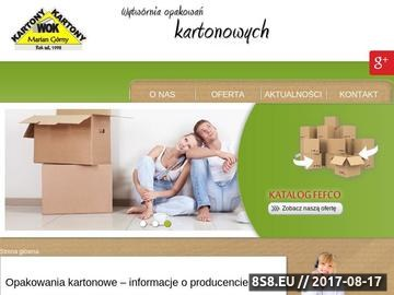 Zrzut strony Wytwórnia opakowań kartonowych